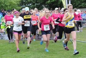 Belfast Telegraph Runher - Seapark to Crawfordsburn - 23rd May 2014 Presseye / Declan Roughan  The second wave of women at the start of the Runher