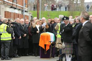 The funeral of Martin McGuinness takes place in Derry, March 23, 2017