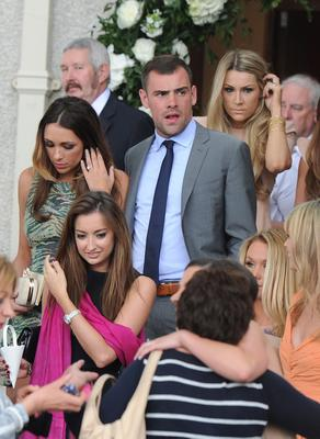 1/6/2013. Former United team mate Darren Gibson at the wedding of Jonny Evans, Manchester United and Northern Ireland football star and Helen McConnell at Clough Presbyterian Church in County Antrim this afternoon. Picture Charles McQuillan/Pacemaker.