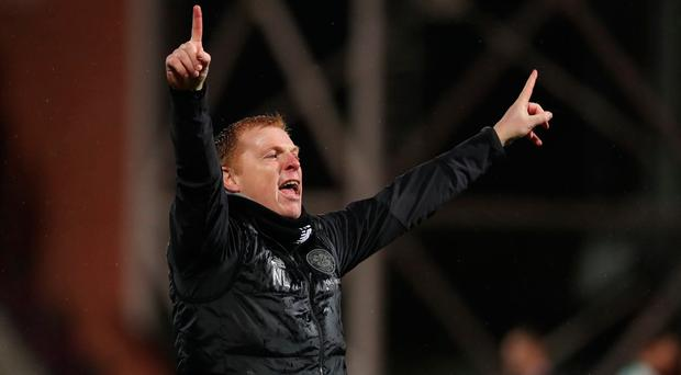 Celtic manager Neil Lennon saw his side go five clear at the top of the table.