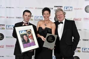 Martin Breen, editor, Sunday Life, Clare Johnston from The Railway Arms in Coleraine and Ivan Little, Sunday Life pictured at Pubs of Ulster's prestigious Pub of the Year Awards 2014, where the Clare won the Best Barperson Award in association with Sunday Life.   In addition to its big win, The Railway Arms was shortlisted for the overall Pub of the Year Award. The Awards night, hosted by Cool FM Breakfast Show Host, Pete Snodden, was attended by the best in the hospitality business and was held at the La Mon Hotel and Country Club on Wednesday 12th November 2014. The annual Pub of the Year Awards are the only industry recognised awards and provide a valuable opportunity to recognise the significant contribution local pubs make, not only within their own communities, but to the industry as a whole. This year's awards were sponsored by Britvic, Coca-Cola, Diageo, Dillon Bass, Heineken Northern Ireland, Molson Coors, Richmond Marketing, Tennent's NI, Drinks Inc. and media partners, Sunday Life, Downtown/Cool FM and Hospitality Review NI.