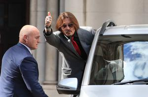 Johnny Depp's libel action is now in its second week at the Royal Courts of Justice in London (Aaron Chown/PA)
