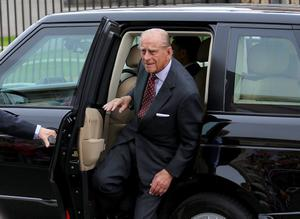 Queen Elizabeth and Prince Philip visit the Curmlin Road Jail in North Belfast. Picture - Kevin Scott / Presseye