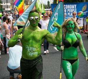 Gay Pride parade Belfast. 06/07/13 Picture Mark McCormick