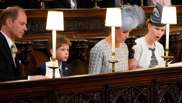 The Earl and Countess of Wessex and their children Lady Louise Windsor and James, Viscount Severn take their seats inside the Chapel ahead of the wedding ceremony of Britain's Prince Harry, Duke of Sussex and US actress Meghan Markle in St George's Chapel, Windsor Castle, in Windsor, on May 19, 2018. / AFP PHOTO / POOL / Jonathan BradyJONATHAN BRADY/AFP/Getty Images