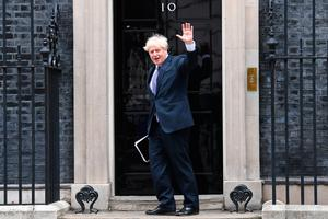 Prime Minister Boris Johnson arrives at 10 Downing Street, London. Photo: Stefan Rousseau/PA Wire