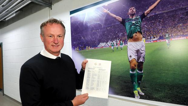 Squad goals: Michael O'Neill is ready to announce who will be going on NI's tour of Central America