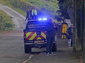 A full scale emergency was declared at Cushendall after a swimmer got into diffiuclty on the beach.  PICTURE KEVIN MCAULEY/MCAULEY MULTIMEDIA