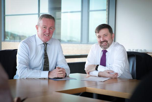 Finance Minister Conor Murphy and Health Minister Robin Swann.