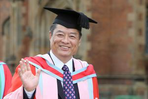 President Qun Zhao, President of the China Medical University (CMU), who is receiving an honorary degree from Queen's University Belfast today for his services to education. The China Medical University has a longstanding partnership with Queen's University that has led to the development of the China Queen's College in Shenyang, north-east China