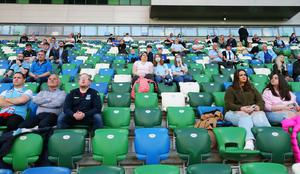 Press Eye - Belfast - Northern Ireland - 31st July 2020 -   Sadler's Peaky Blinder Irish Cup Final at the National Football Stadium at Windsor Park - Ballymena United FC v Glentoran FC.   Ballymena fans pictured at the match.  250 fans for each team were permitted into the ground with social distancing conditions in relation to COVID-19.  Photo by Jonathan Porter Press Eye.