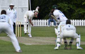 Northern Knights' Andrew White bowls
