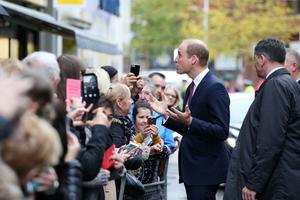 The Duke of Cambridge is pictured meeting members of the public in Lombard Street, Belfast during his visit to Inspire, a charity and social enterprise which focuses on promoting wellbeing for all across the Island of Ireland. Photo by Kelvin Boyes   / Press Eye