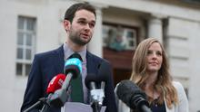 Daniel and Amy McArthur of Ashers Baking Company which is due to find out the result of a Supreme Court appeal in the 'gay cake' case (PA/Neil Carson)