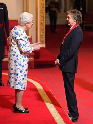 Sir Paul McCartney is made a Companion of Honour by the Queen (Yui Mok/PA)