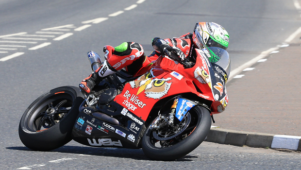 Glee for Glenn: Carrickfergus rider Glenn Irwin set the fastest pace in the Superbike qualifying at the NW200