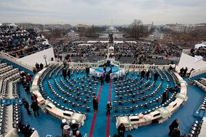 WASHINGTON, DC - JANUARY 20: Chairs are set up on the West Front of the U.S. Capitol on January 20, 2017 in Washington, DC. In todays inauguration ceremony Donald J. Trump becomes the 45th president of the United States.  (Photo by Scott Olson/Getty Images)