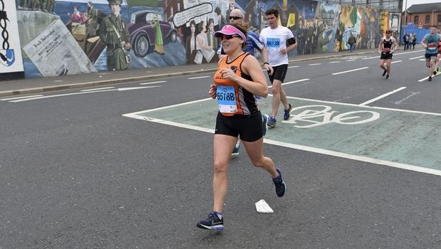 7th May 2018 37th Deep RiverRock Belfast City Marathon   Gillian Logan pictured at the marathon  Mandatory Credit ©Presseye/Stephen Hamilton