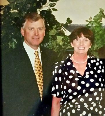 Julia with former US Vice President Dan Quayle