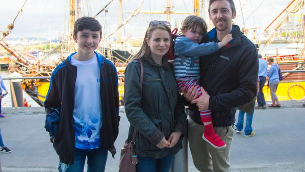 Jack , Susie , Tom and Conor Lydon  The maritime festival begins in Belfast on June 16th 2017 (Photo by Kevin Scott / Belfast Telegraph)