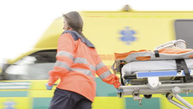 A rapid response paramedic and an A&E crew were dispatched along with the air ambulance