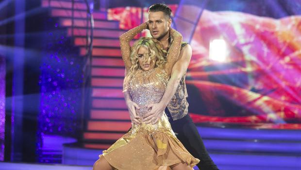 Cliona Hagan and Vitali Kozmin  during the Sixth live show of Dancing With The Stars.