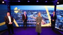James Eyre, commercial director, Titanic Quarter, Kevin Holland, chief executive, Invest NI, Suzanne Wylie, chief executive, Belfast City Council, and David Elliott, senior client director, Lanyon Group