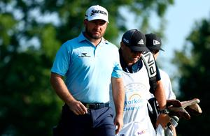 Graeme McDowell is back on the course with caddie Ken Comboy, who tested positive for coronavirus two weeks ago.