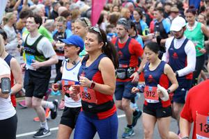 Press Eye - Belfast - Northern Ireland - 7th May 2018  -   37th Deep RiverRock Belfast City Marathon   Runners  pictured at the marathon at Belfast City Hall.  Photo by Kelvin Boyes / Press Eye