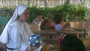 Sister Clare during her first week in Ecuador