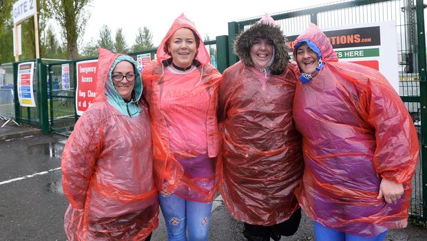 Pacemaker Press 09/05/2018 Ed Sheeran fans at Boucher Road in Belfast on Wednesday evening,   with  around  42,000 people expected at Boucher playing fields for the Ed  Sheeran Concert. Photo  Pacemaker Press