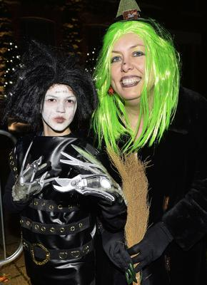 Cathy and Corrado Mullan from Newtownabbey  pictured Halloween spook out at Newtownabbey's Mossley Mill. Picture by Stephen Hamilton -Presseye.com