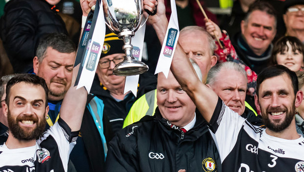 Conor Laverty lifting the club's first ever Ulster crown with Aidan Branagan