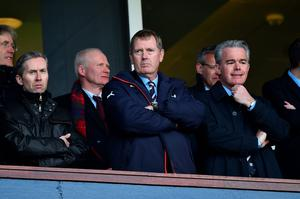 GLASGOW, SCOTLAND - APRIL 17:  Rangers Chairman Dave King looks on during the William Hill Scottish Cup semi final between Rangers and Celtic at Hampden Park on April 17, 2016 in Glasgow, Scotland.  (Photo by Jeff J Mitchell/Getty Images)