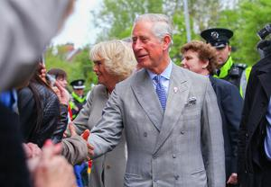 Picture - Kevin Scott / Presseye  Thursday 21st May 2015 -  Royal Visit  Opera Singer - Prince Charles and Camilla at St Patricks Church in Belfast during their visit  Picture - Kevin Scott / Presseye