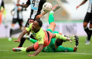 Fall and rise of Sterling: City's Raheem Sterling is fouled against Newcastle