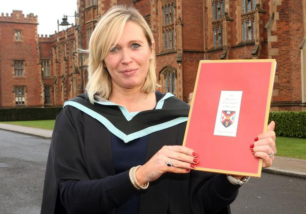 Mandatory Credit - Picture by Freddie Parkinson/Press Eye © Thursday 8th December 2016 Graduations take place at Queens University in Belfast. Rosemary Harper from Belfast graduated in Nursing.