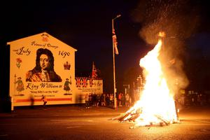 Sandy Row bonfire. Photo Stephen Davison/Pacemaker Press