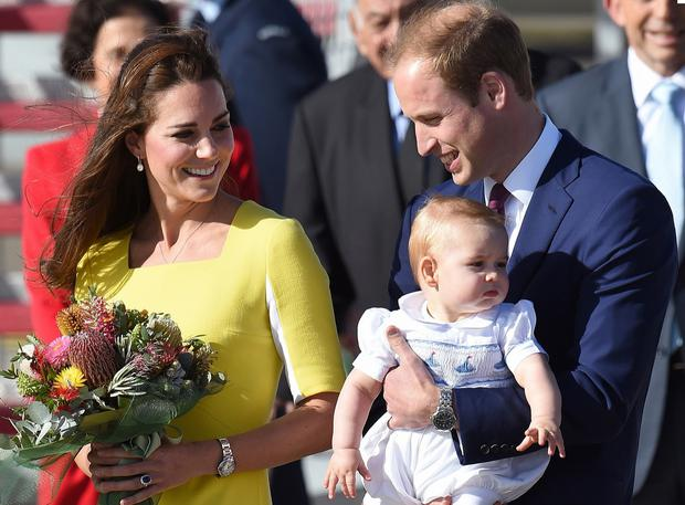 Kate, William and George