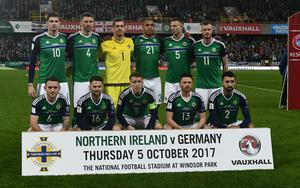 PACEMAKER BELFAST  05/10/2017 Northern Ireland v Germany World Cup Qualifier Group C N Ireland  during this evenings game at the National Stadium in Belfast. Photo Colm Lenaghan/Pacemaker Press