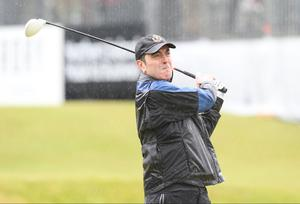 Press Eye - Belfast - Northern Ireland 27th May 2015 -  Dubai Duty Free Irish Open at Royal County Down James Nesbitt Picture by Andrew Paton / Press Eye.