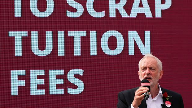 Labour leader Jeremy Corbyn speaking at an event at the Parade in Watford while on the General Election campaign trail. PRESS ASSOCIATION Photo. Picture date: Tuesday June 6, 2017. See PA story ELECTION Main. Photo credit should read: Jonathan Brady/PA Wire