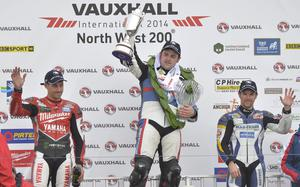 Michael Dunlop with Josh Brookes and Alastair Seeley