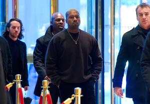 Singer Kanye West arrives at Trump Tower December 13, 2016 as US President-elect Donald Trump continues to hold meetings In New York. / AFP PHOTO / TIMOTHY A. CLARYTIMOTHY A. CLARY/AFP/Getty Images