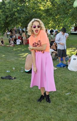 THERMAL, CA - APRIL 13:  Singer Rita Ora attends LACOSTE L!VE Desert Pool Party In Celebration Of Coachella on April 13, 2013 in Thermal, California.  (Photo by Jonathan Leibson/Getty Images for LACOSTE)