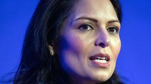Home Secretary Priti Patel described the Twitter posts as 'abhorrent' (Dominic Lipinski/PA)