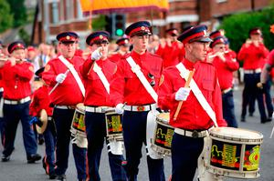 A parade in north Belfast last year