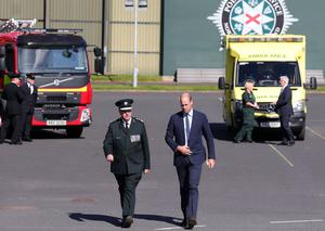 The Duke of Cambridge is pictured during his visit to PSNI Garnerville in east Belfast. The Duke thanked many of the PSNI, Fire Service and Ambulance Service emergency responders who worked during the COVID-19 pandemic. His visit took place on 9th September which is 999 day. Photo by Kelvin Boyes / Press Eye.