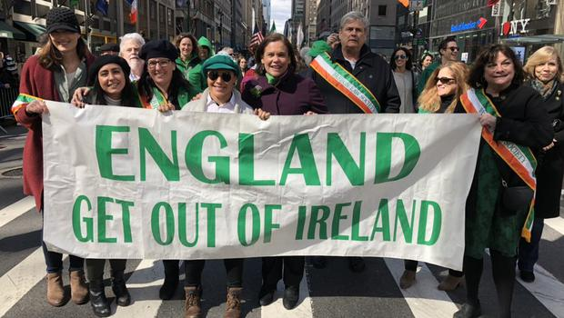 Sinn Fein leader Mary Lou McDonald has been widely criticised for the picture. Credit: Sinn Fein