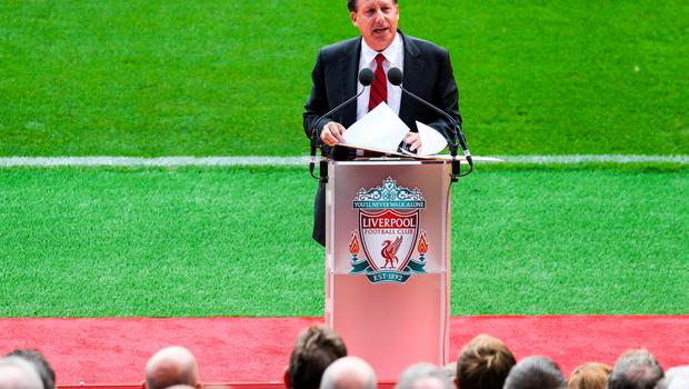 LIVERPOOL, ENGLAND - SEPTEMBER 09: Liverpool's Tom Werner during the opening of  the new stand and facilities  at Anfield on September 9, 2016 in Liverpool, England. (Photo by Barrington Coombs/Getty Images)